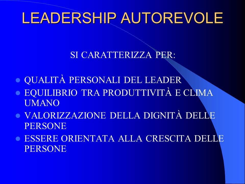 LEADERSHIP AUTOREVOLE