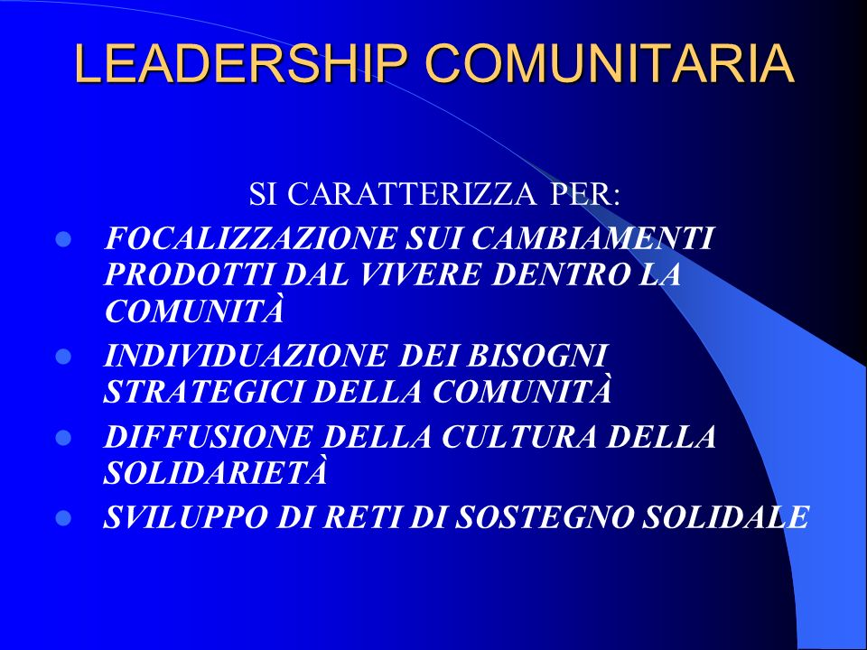LEADERSHIP COMUNITARIA