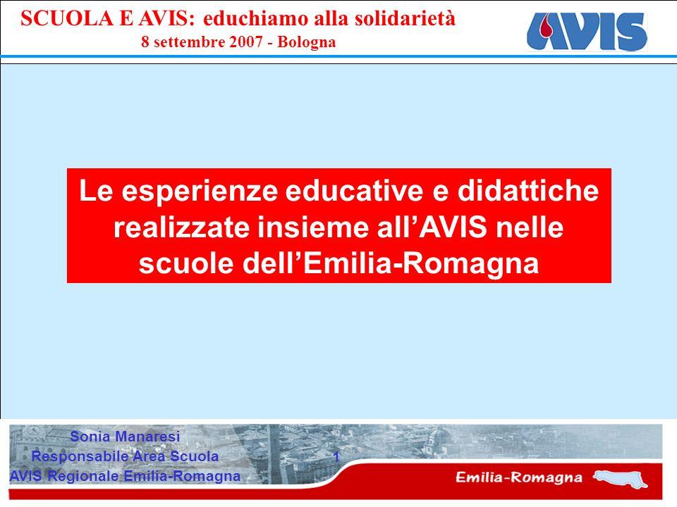 Responsabile Area Scuola AVIS Regionale Emilia-Romagna