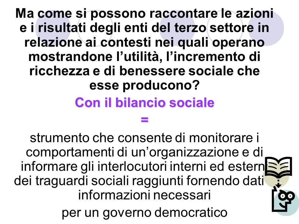 Con il bilancio sociale