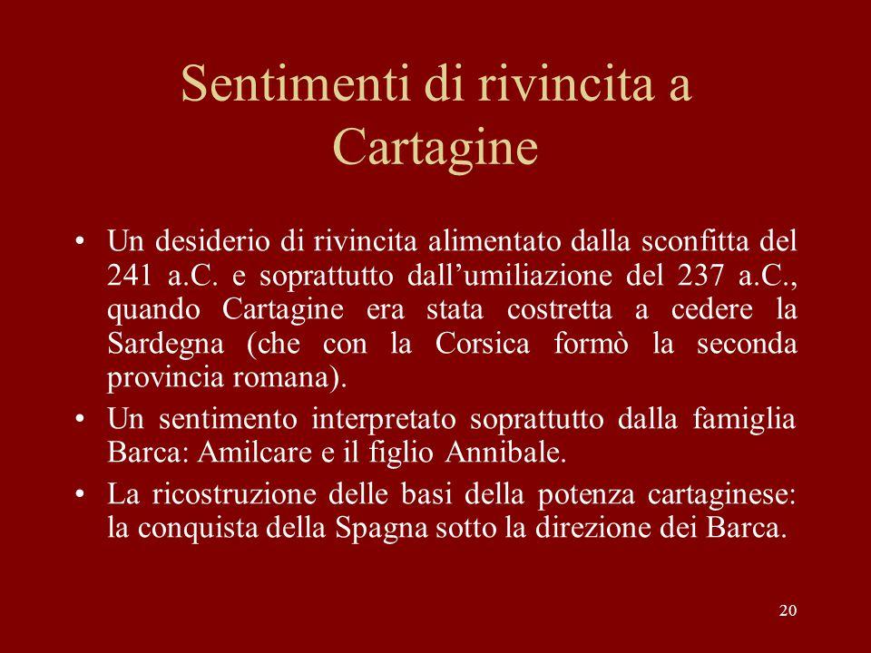 Sentimenti di rivincita a Cartagine