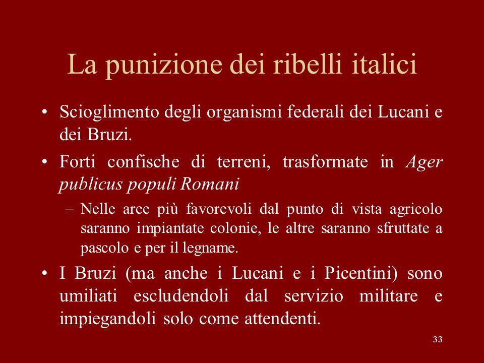 La punizione dei ribelli italici