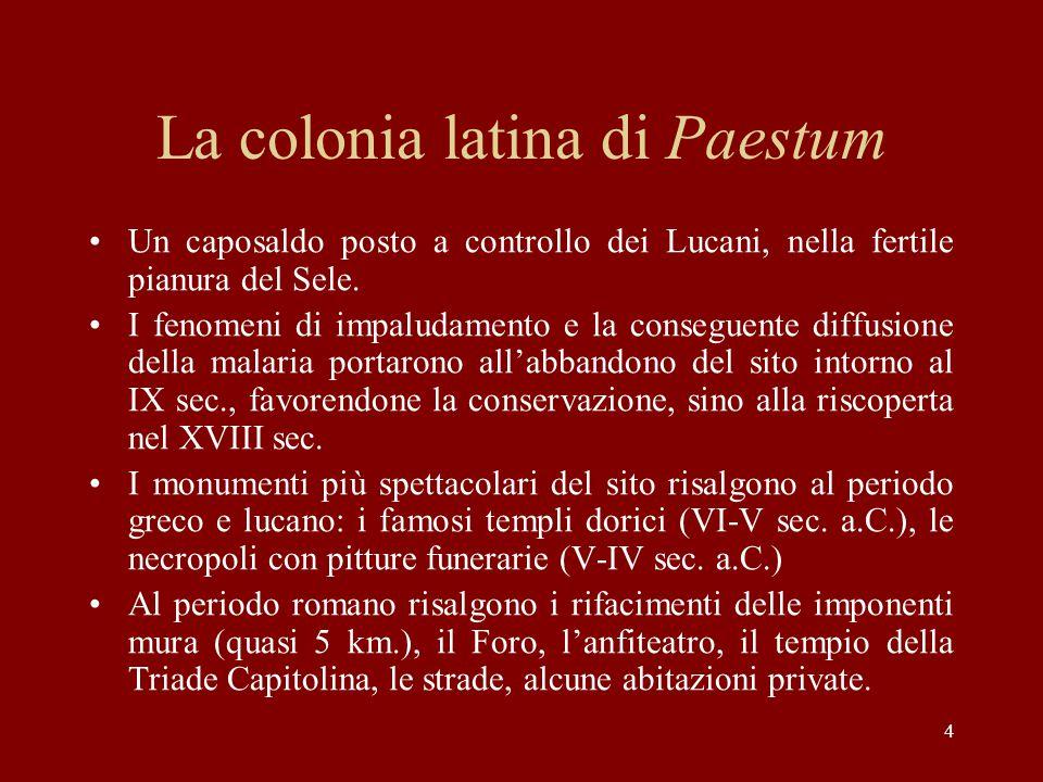 La colonia latina di Paestum