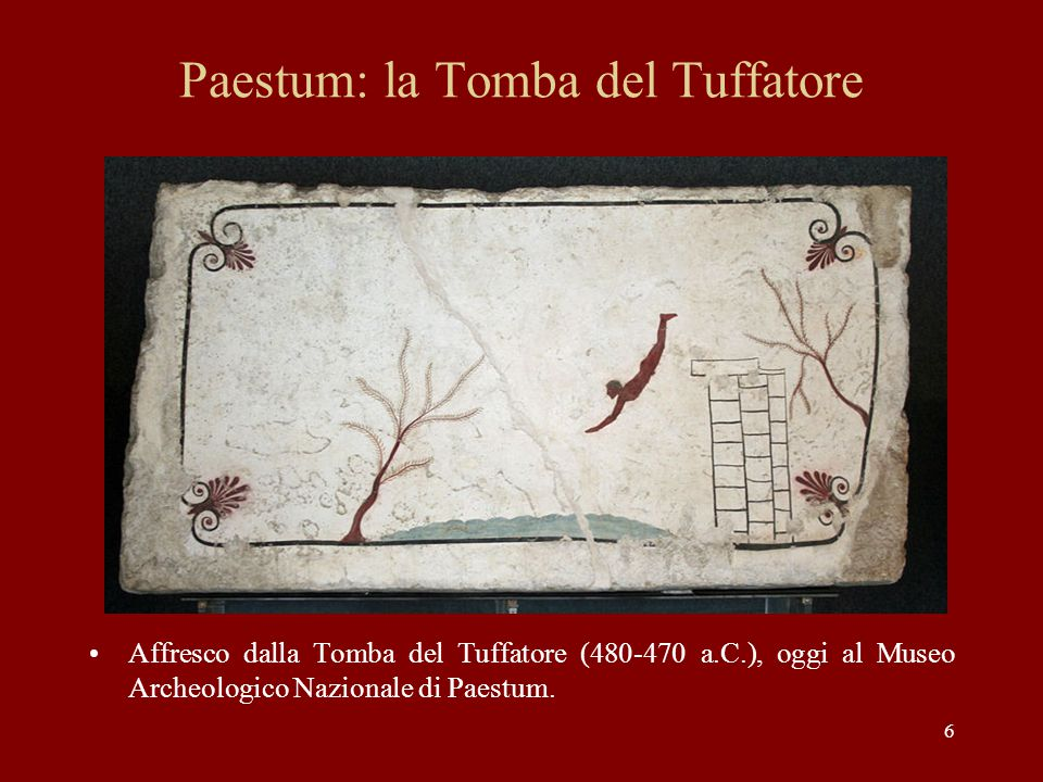 Paestum: la Tomba del Tuffatore