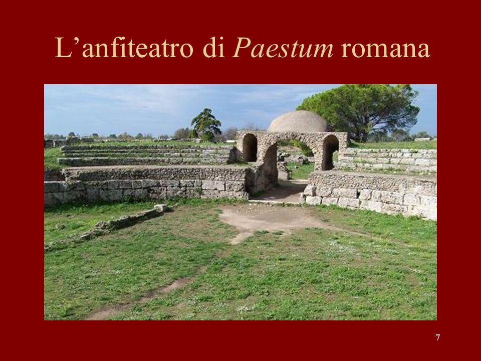 L'anfiteatro di Paestum romana