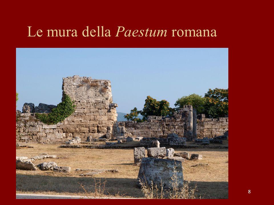 Le mura della Paestum romana