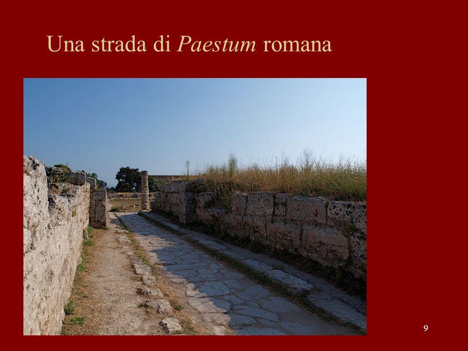Una strada di Paestum romana