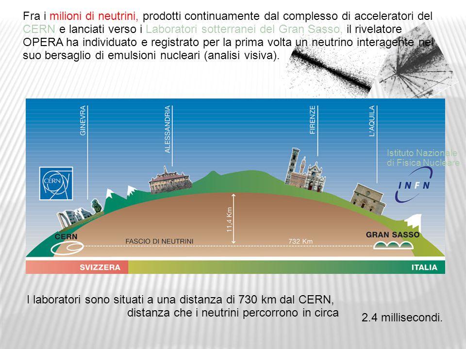I laboratori sono situati a una distanza di 730 km dal CERN,