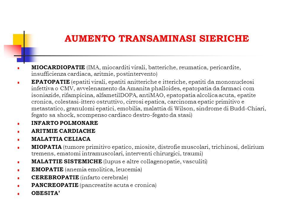AUMENTO TRANSAMINASI SIERICHE