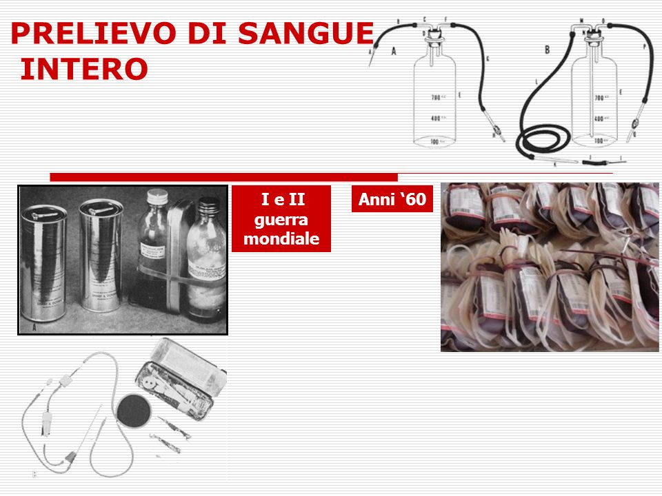 PRELIEVO DI SANGUE INTERO