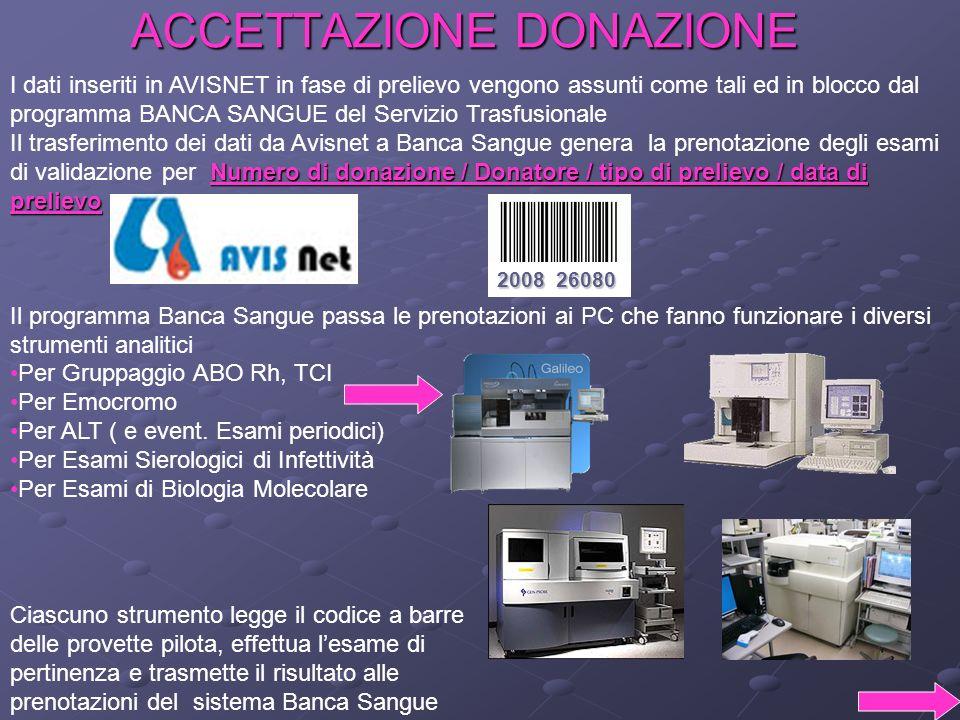 ACCETTAZIONE DONAZIONE