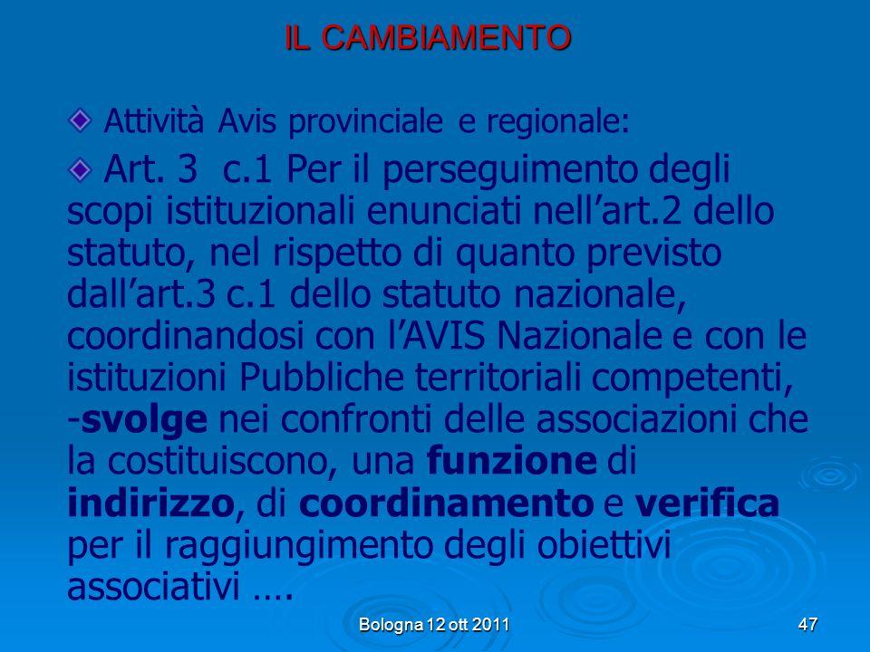 Attività Avis provinciale e regionale: