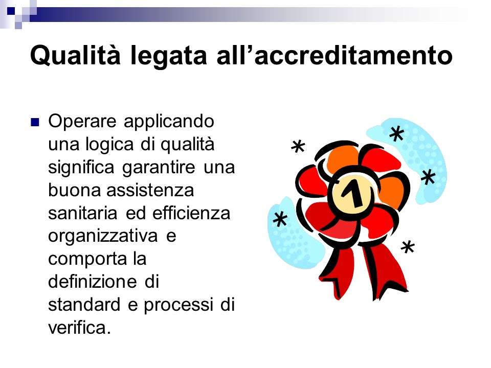 Qualità legata all'accreditamento