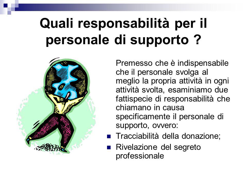 Quali responsabilità per il personale di supporto