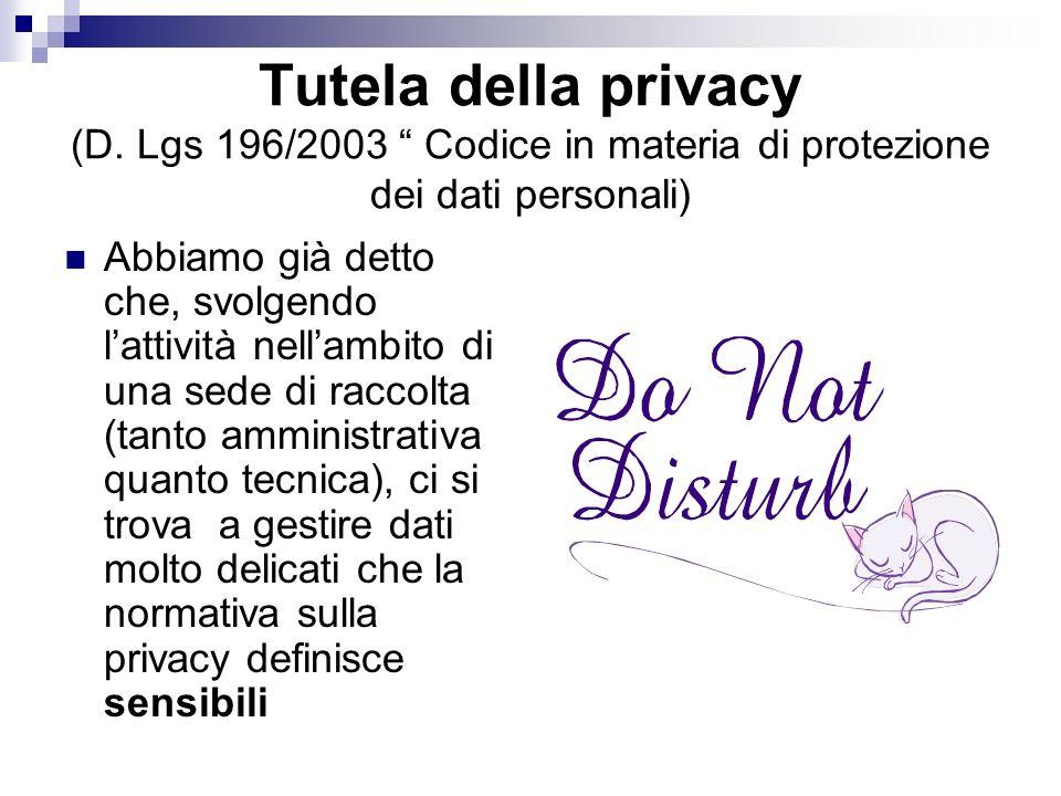 Tutela della privacy (D