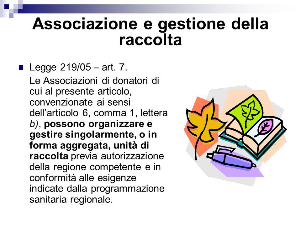 Associazione e gestione della raccolta