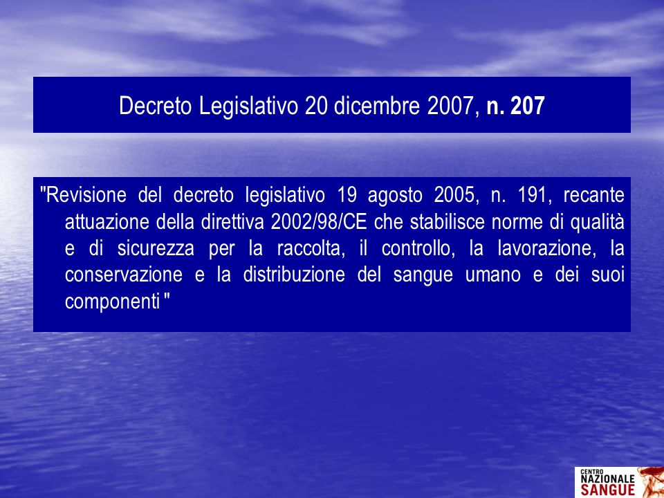 Decreto Legislativo 20 dicembre 2007, n. 207