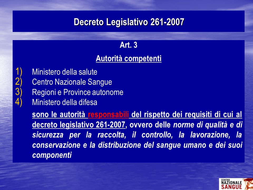 Art. 3 Autorità competenti