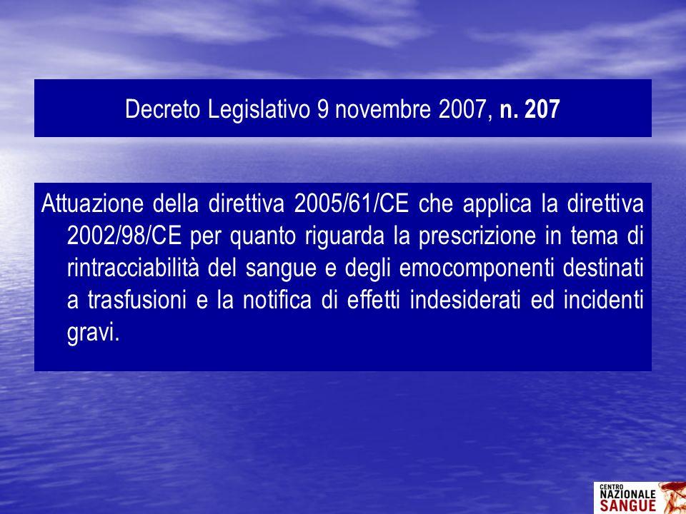 Decreto Legislativo 9 novembre 2007, n. 207
