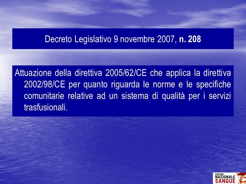 Decreto Legislativo 9 novembre 2007, n. 208