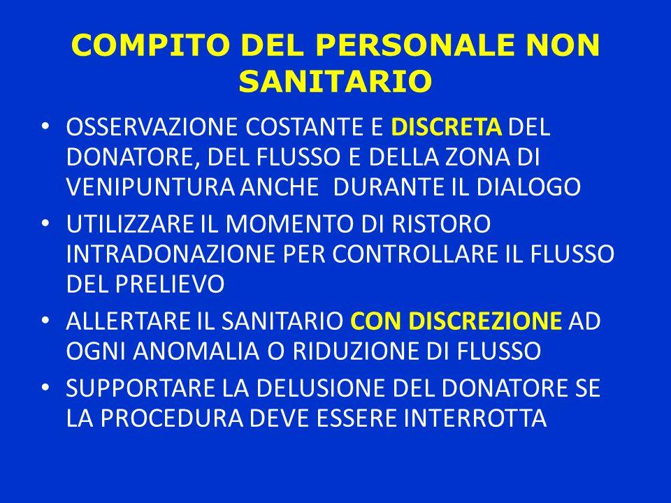 COMPITO DEL PERSONALE NON SANITARIO