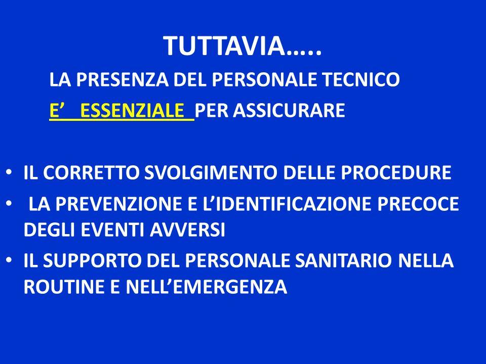 TUTTAVIA….. LA PRESENZA DEL PERSONALE TECNICO