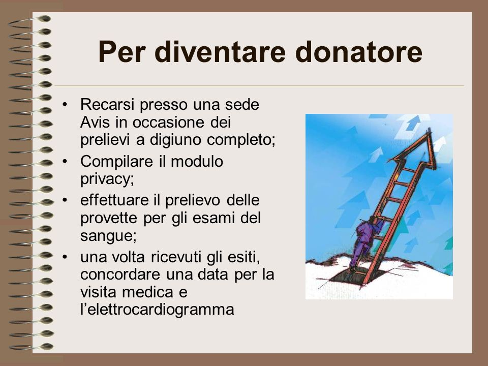 Per diventare donatore