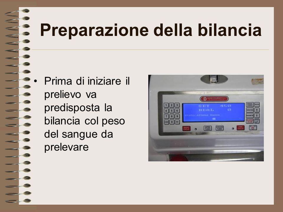Preparazione della bilancia