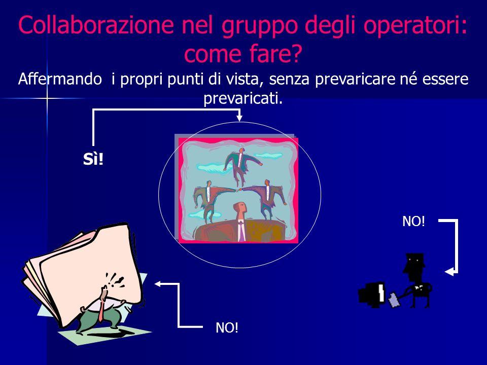 Collaborazione nel gruppo degli operatori: come fare