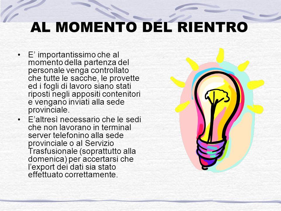 AL MOMENTO DEL RIENTRO