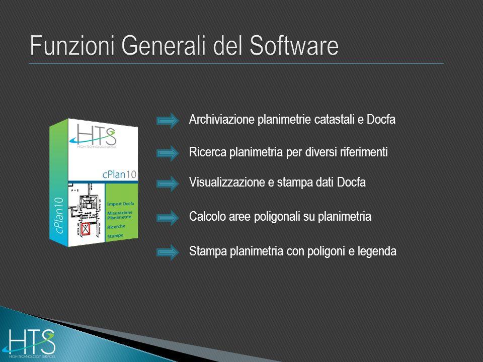 Funzioni Generali del Software