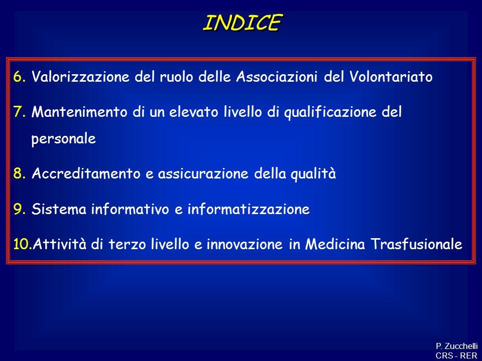INDICE Valorizzazione del ruolo delle Associazioni del Volontariato