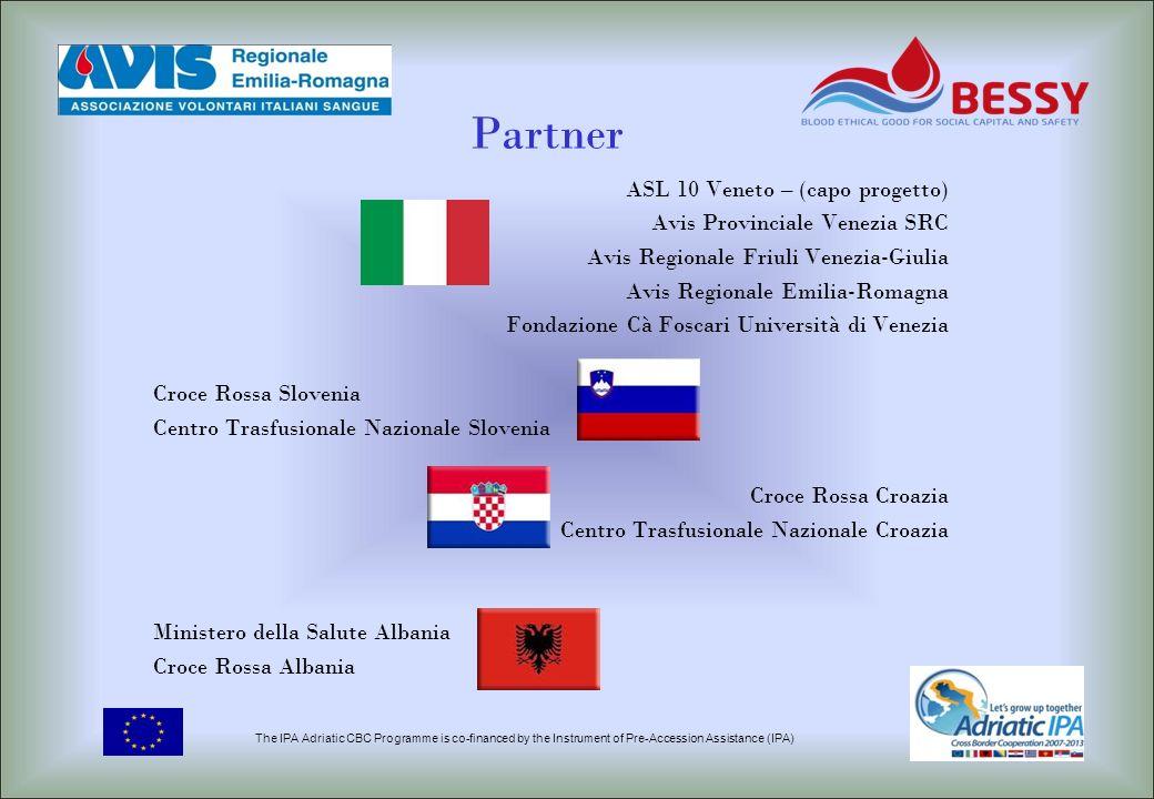 Partner ASL 10 Veneto – (capo progetto) Avis Provinciale Venezia SRC