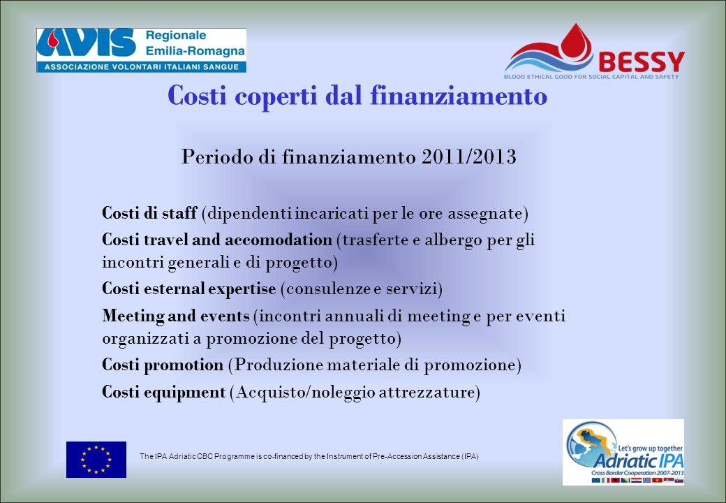 Costi coperti dal finanziamento