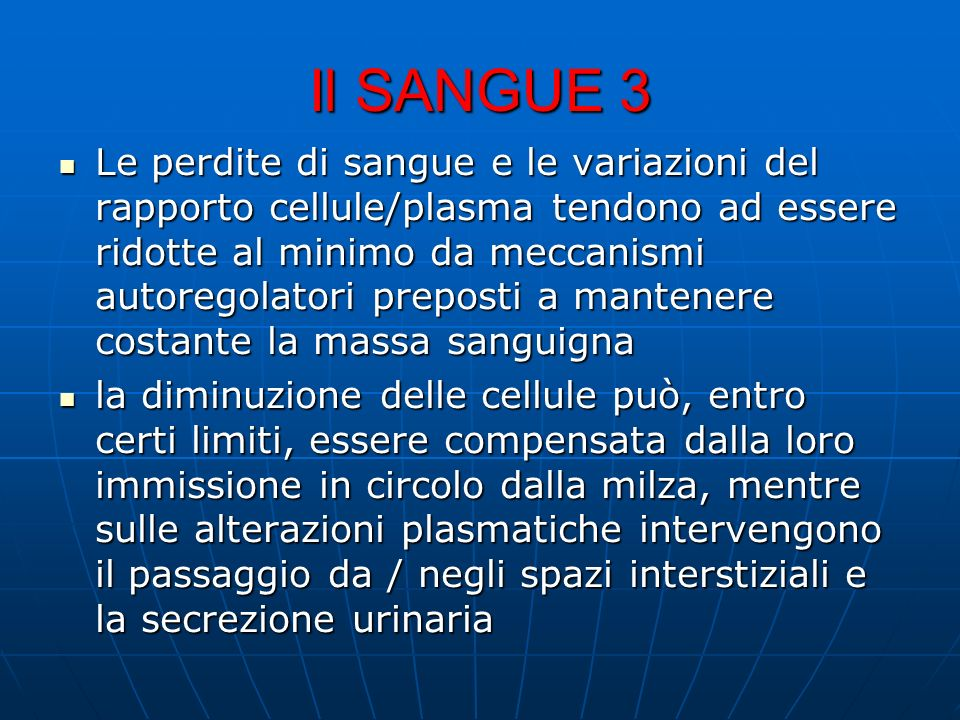 Il SANGUE 3