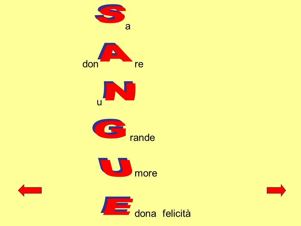 a don re SANGUE u rande more dona felicità