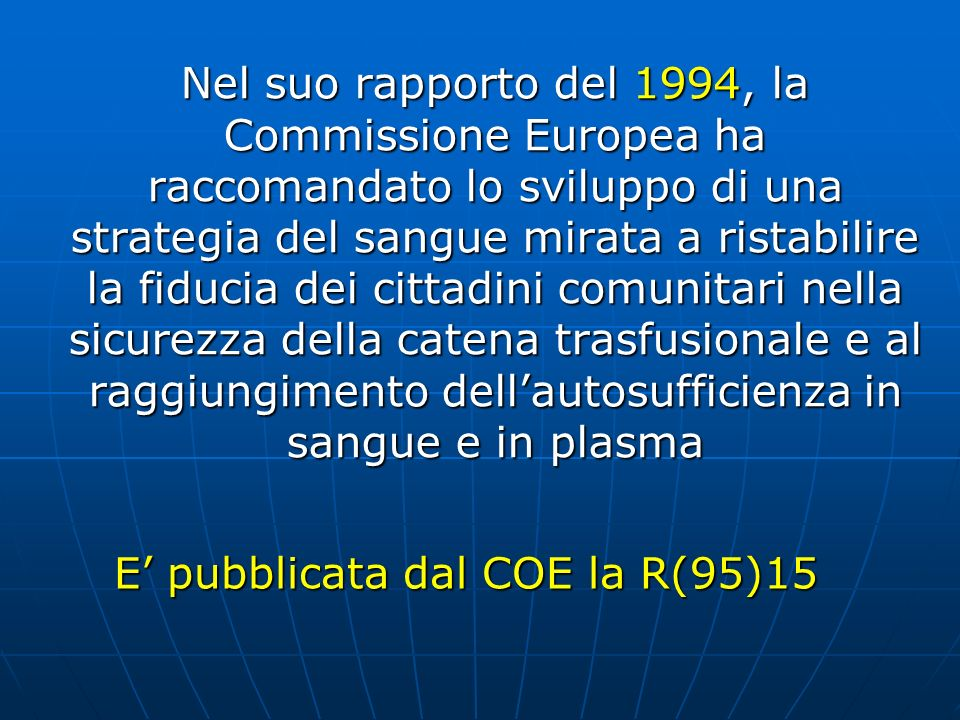 E' pubblicata dal COE la R(95)15