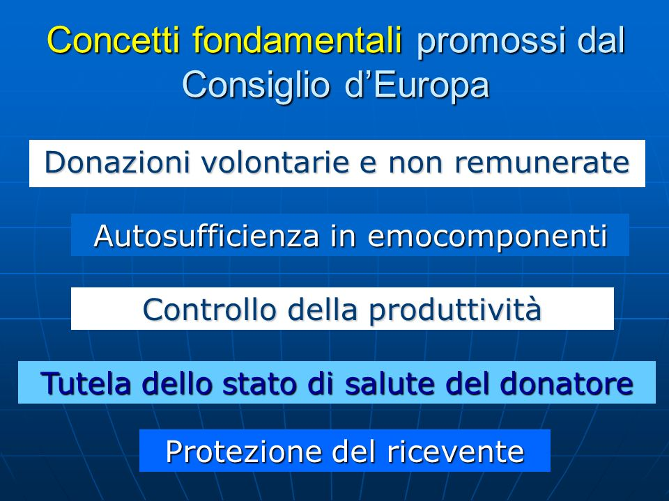 Concetti fondamentali promossi dal Consiglio d'Europa