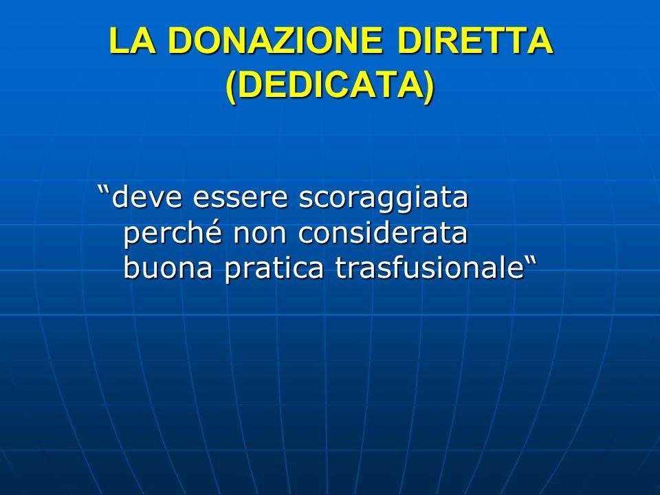 LA DONAZIONE DIRETTA (DEDICATA)
