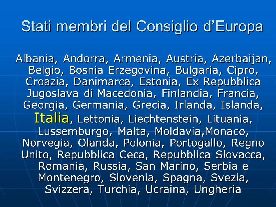 Stati membri del Consiglio d'Europa