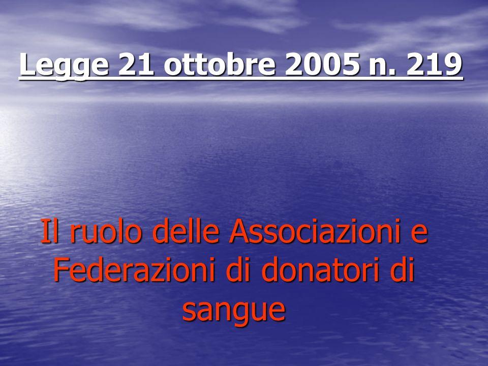 Il ruolo delle Associazioni e Federazioni di donatori di sangue