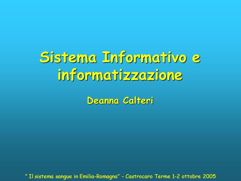 Sistema Informativo e informatizzazione