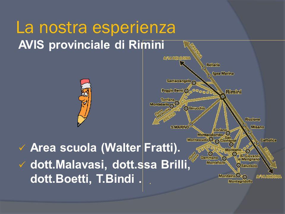 La nostra esperienza AVIS provinciale di Rimini