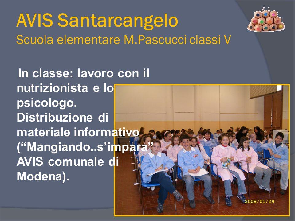 AVIS Santarcangelo Scuola elementare M.Pascucci classi V
