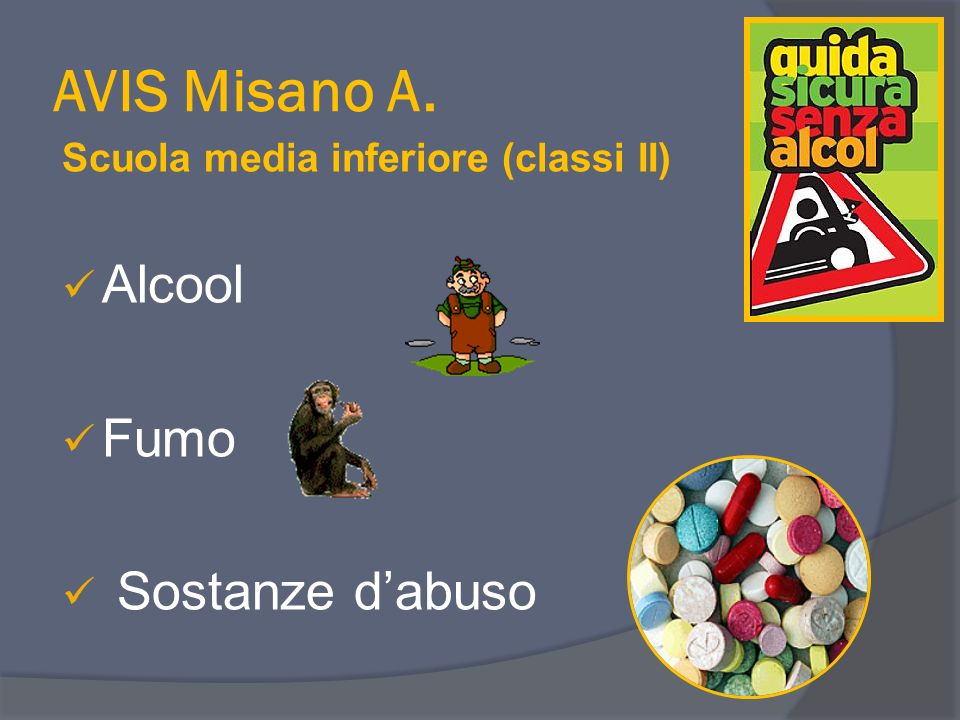 AVIS Misano A. Alcool Fumo Sostanze d'abuso