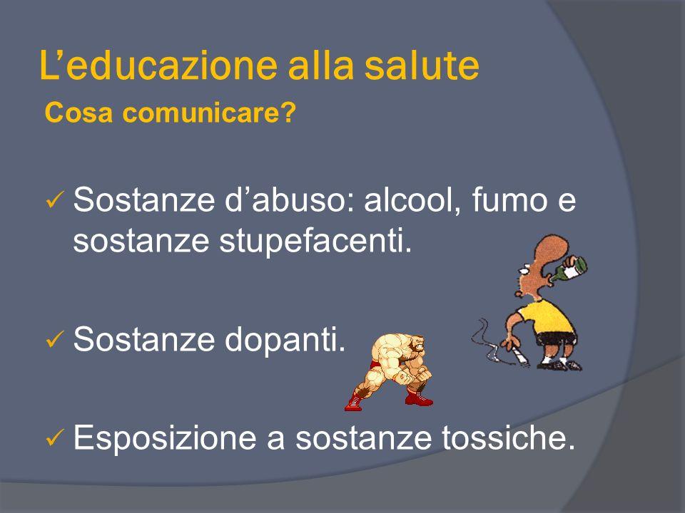 L'educazione alla salute