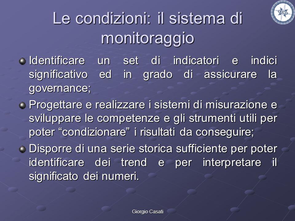 Le condizioni: il sistema di monitoraggio