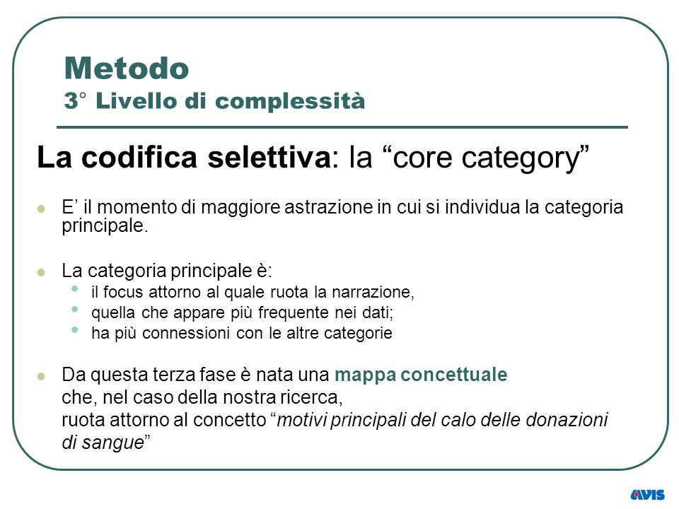 Metodo 3° Livello di complessità