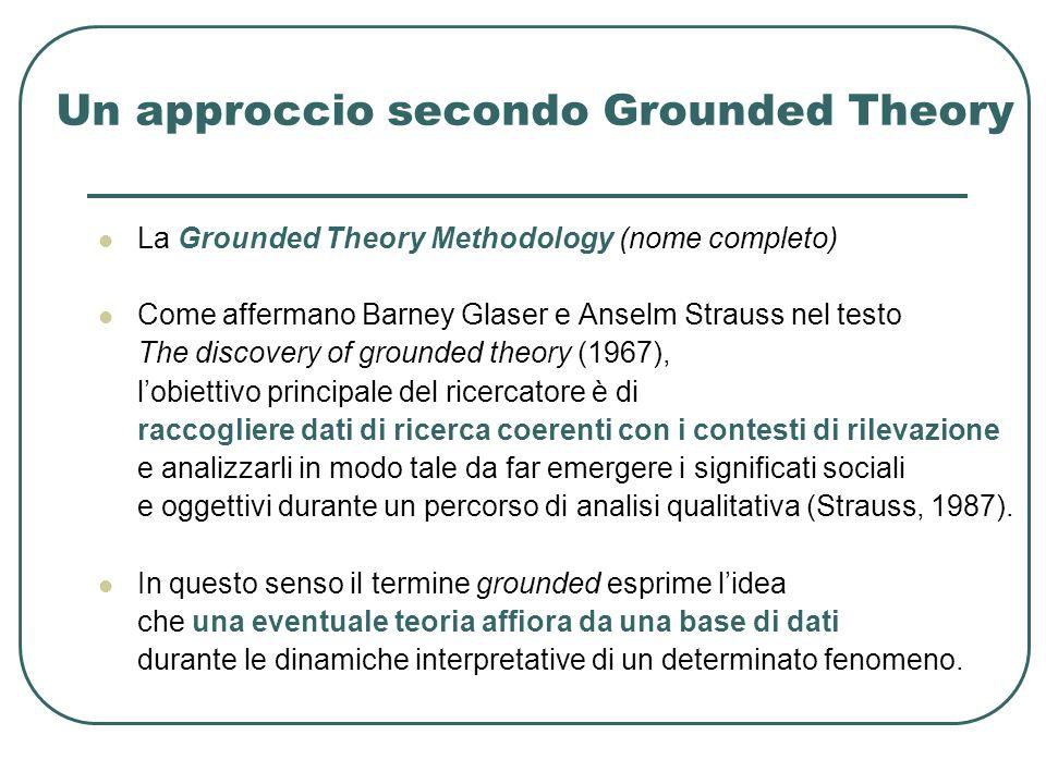 Un approccio secondo Grounded Theory