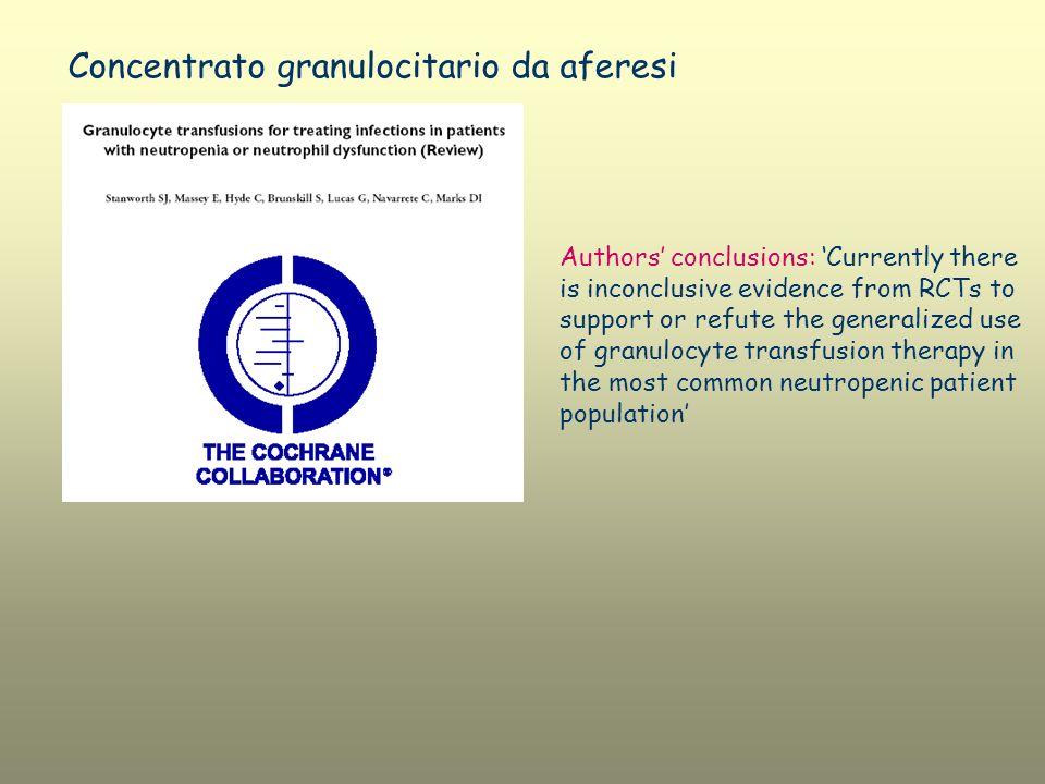 Concentrato granulocitario da aferesi